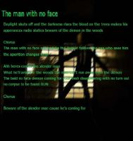 The Man With No Face(Song Lyrcs) by DevinjKaibaSixx