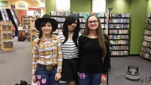 AJ and Sappho at my store signing by PonyGoddess