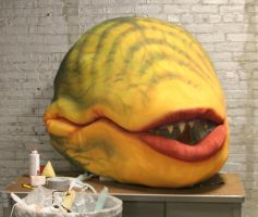 Audrey II stage 3 head in progress by mostlymade