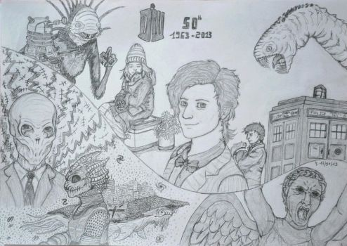 Doctor Who 50th anniversary by Blondie3960
