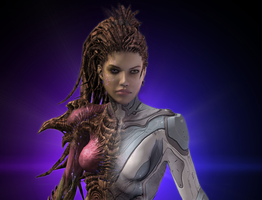 Queen of Blades - Sarah Kerrigan by Alianys