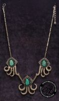 Turquoise Fork Necklace by Doctor-Gus