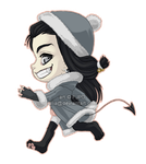 Gaia: Chibi winter avatar by falia