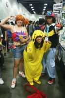 AX12-Misty Ash and Pikachu by moonymonster