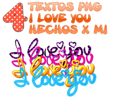 4 I love you png by rubyok