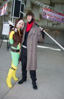 Gambit and Rogue by theStarktorialist