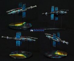 Babylon 5 miniature space station by Atropos907