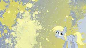 Derpy Hooves Splatter Wallpaper by brightrai