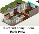 Future House: Kitchen and Patio by EnderTrouble