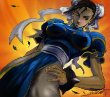 Chun li colored by ErikHodson