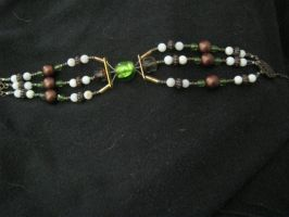 necklace - 3 strand (finished) earth tones by Galasdian