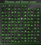 chrome and green icons by xylomon
