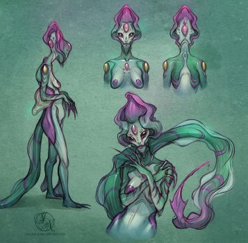 Flower Alien - Study sketches by Ithilnaur