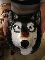 Clay wolf mask by SabastionLover