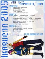 Ikasucon Flyer - Blue Version by taintedsilence