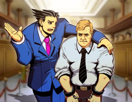 Phoenix Wright - Kevin Butler edition by GENZOMAN