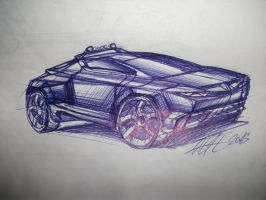 Couperoad concept vehicle drawing by koleos33