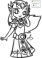 Speed Draw Request: Zelda by Dreams-of-Impact