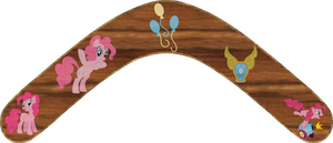 Pinkie Pie Boomerang by Out-Buck-Pony