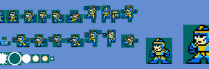 megaman bad box art sprites 8bit by BerserkerOx