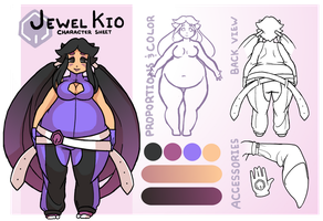 Commission - Jewel Character sheet by MorningPanda