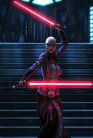 Ventress battle piece 2 by vic55b