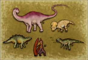 The Land Before Time Revolution: The Gang by TheJuras