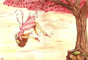 She Fell From The Cherry Tree by Past-Chaser
