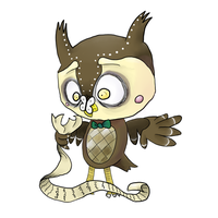 Blathers + Butterfly by CrustCringle