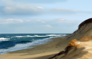 Speedpainting: Beach by Art-of-Sekhmet