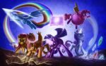 Mane 6_Fighting Is Magic by Tsitra360