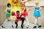 Powerpuff Girls vs HIM by ThelemaTherion