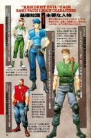 resident evil psx characters by DIGITALWIDERESOURCE