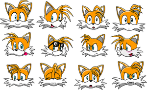 Tails messenger emoticon set by Ingolme