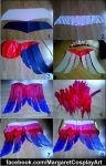 Quinn's cape making step by step by MargaretCosplayArt