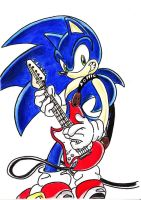 Sonic the guitar Hero by viola512