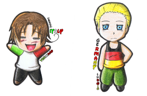 APH: chibi Germany, Italy by Freaky-chan