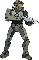 Master Chief LineArt by malde37