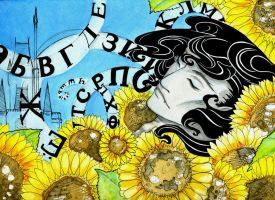 Sunflowers and Alphabets by PhantomSeptember