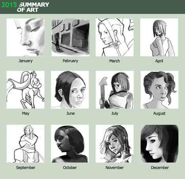 2015 Summary of Art - Sketches by circuitleaf