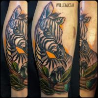 neo traditional safari leg sleeve progress attoo by WillemXSM