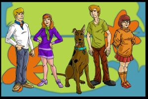 The Scooby Gang by DLTabor