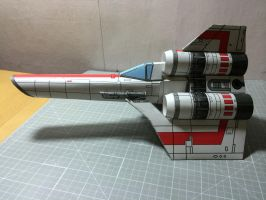 BSG Colonial ViperMk1  complete (port side view) by otherwld
