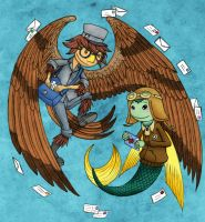 Bird and Fish: Air Mail by Katy133