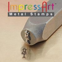 Wire Dress Form Metal Stamp for custom designs by artistiquejewelry