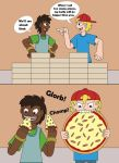 Two boys eating Pizzas 1-2 by MCsaurus