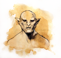 Azog. Pale Orc from The Hobbit. by Krinna