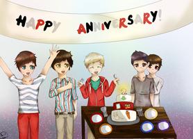 Happy Second Anniversary One Direction! by Rin-luver