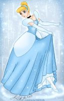 Cinderella - colored by Tink by Liquid-KaKa