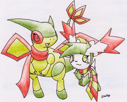 Sheian and Flygon -RQ- by Yakalentos
